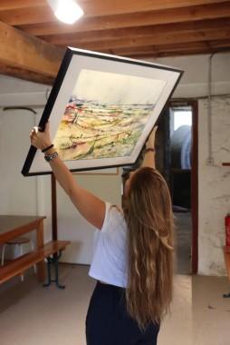 Décrochage d'exposition de l'artiste Amanda Lapierre Ibanez (A.L.I. Peintre)