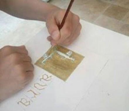 Enluminure et calligraphie avec Benjamin RIATLEY