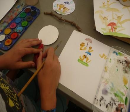 Atelier ENFANT : aquarelle et calligraphie japonaise avec Ayuko Miyakawa
