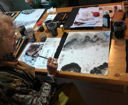 Atelier Calligraphie japonaise avec Ayuko Miyakawa les lundis 13 et 20 Avril