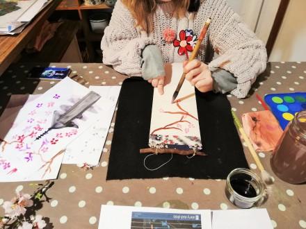 Atelier Mini Kakemono avec Ayuko Miyakawa les 15, 17, 29 et 31 Juillet 2020