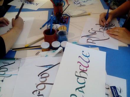 Atelier ENFANT ET ADULTE : Calligraphie artistique avec Laurence Cron du 19-07-20 au 24-07-20