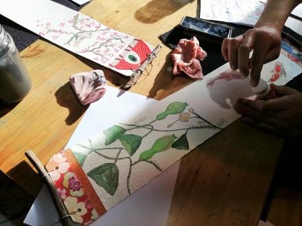 Atelier Mini Kakemono avec Ayuko Miyakawa les 8, 10, 15 et 17 Avril 2020