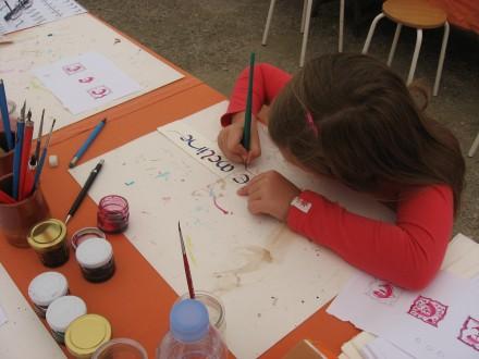 Atelier ENFANT et ADULTE : Lettrine et Calligraphie avec Laurence Cron du 19-07-20 au 24-07-20